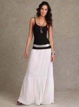 Что носить с длинной юбкой